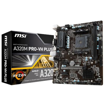 MSI Motherboard A320M PRO-VH PLUS (A320/AM4/DDR4)