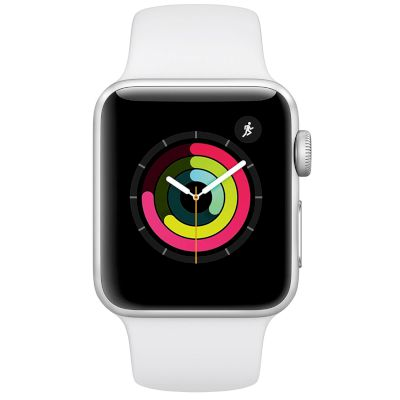 Apple Watch Series 3 GPS, 42mm Silver Aluminium Case  Sport Band