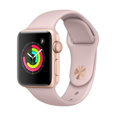 Watch Series 3 GPS, 38mm Gold Aluminium Case with Pink Sand Sport Band