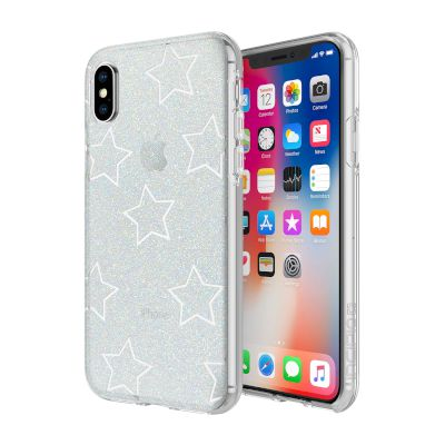 Θήκη Incipio Back Cover για iPhone X Glitter Silver,Star Cut