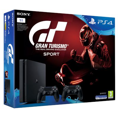 Sony Playstation 4 Slim 1 TB + 2nd Dualshock + Gran Turismo Sport + That's You