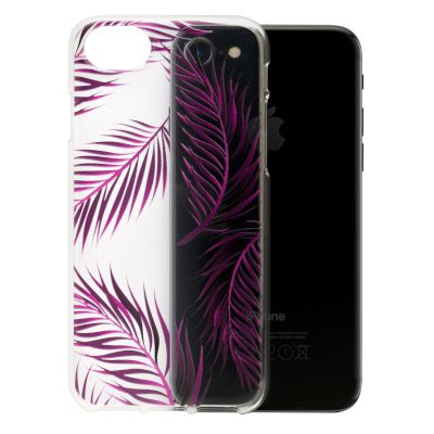 Θήκη Sentio Back Cover για iPhone 8/7 Διάφανη,Leaf Purple