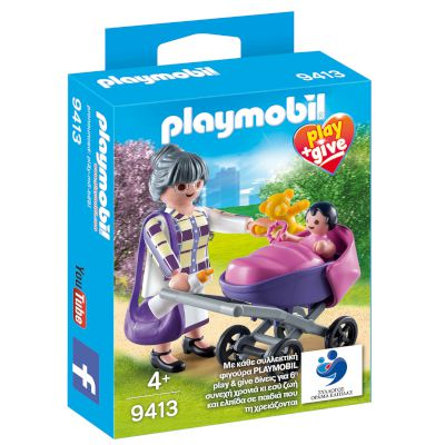 9413 Play&Give Γιαγια Με Μωρακι Playmobil