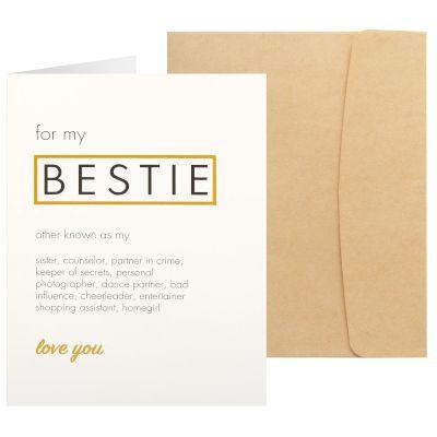 Sentio Ευχετήρια Κάρτα Bestie - Ευχετήριες Κάρτες ebfc6b3cccf