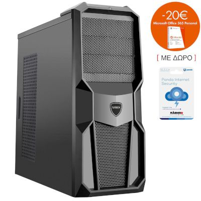 Turbo-X Cerberus GK155 Desktop (AMD Ryzen 3 2200G/8 GB/1 TB HDD//RX 550)