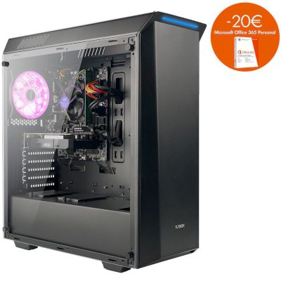 Turbo-X Erebus E400 Desktop (Intel Core i5 7400/8 GB/1 TB HDD/120 GB SSD/GTX 1050 Ti)