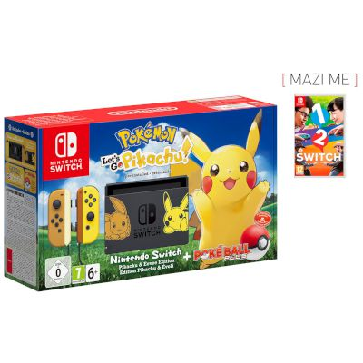 Nintendo Switch Pokemon Lets Go Pikachu + 1-2 Switch