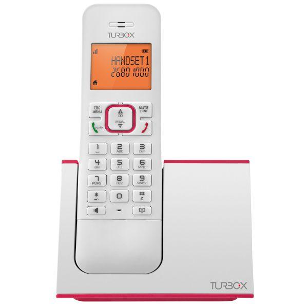 Ασύρματο Τηλέφωνο Turbo-X PL 320 Λευκό-Ροζ