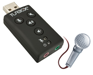 Turbox SOUNCARD USB 7.1  SPDIF Microphone