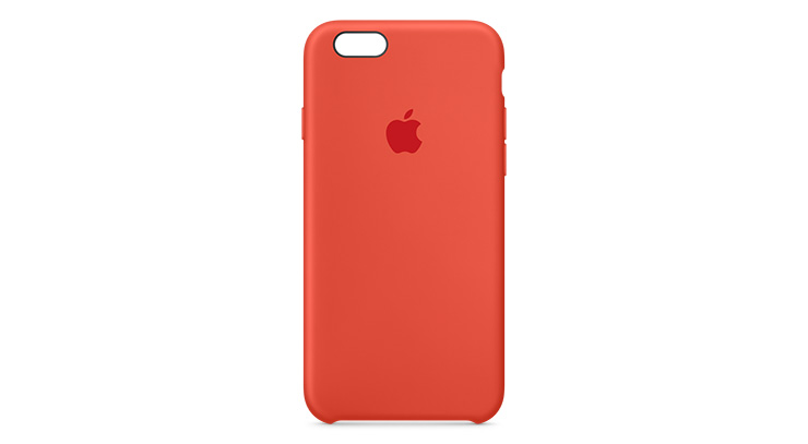 Apple Silicone Case iPhone 6s Plus Orange
