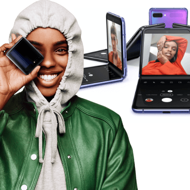 Woman with Samsung